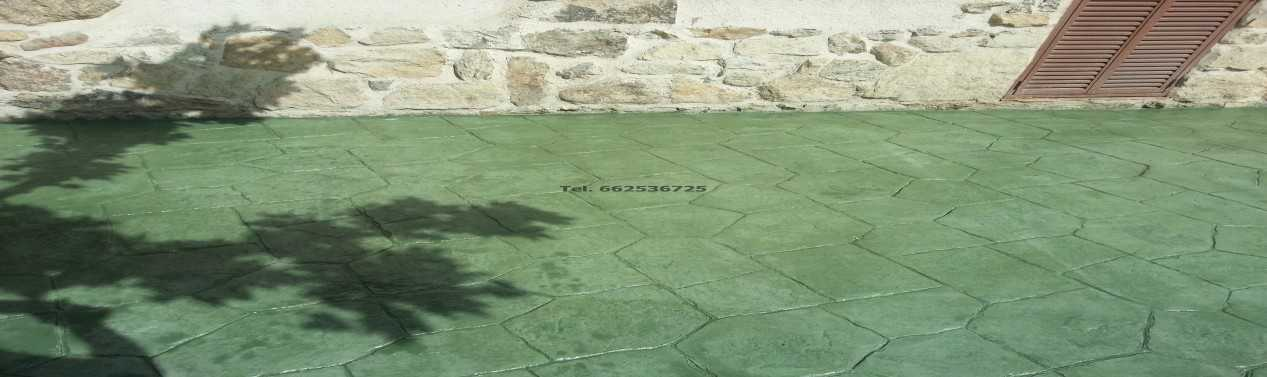 Hormigon impreso en Segovia